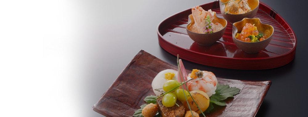 丁寧に仕上げた日本料理お部屋食