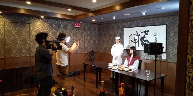 CCNテレビ放送 and 最上級の日本料理を食す
