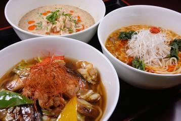 チャイナルーム「龍遊里」オリジナル中華麺セット&温泉入浴付プラン【土日祝日限定】