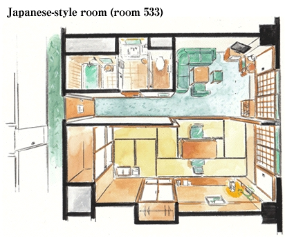 Rooms suimeikan for Japanese apartment floor plan