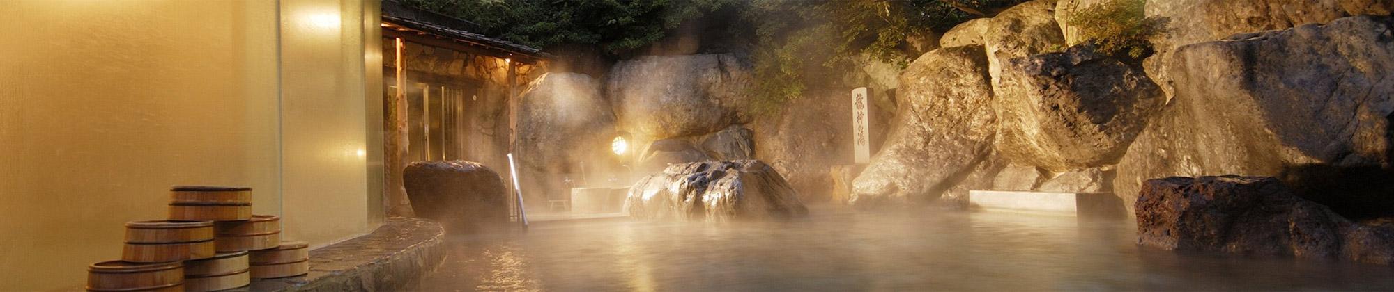 日本三名泉 下呂温泉、水明館の湯。