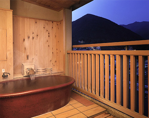 Japanese- style room with open-air bath